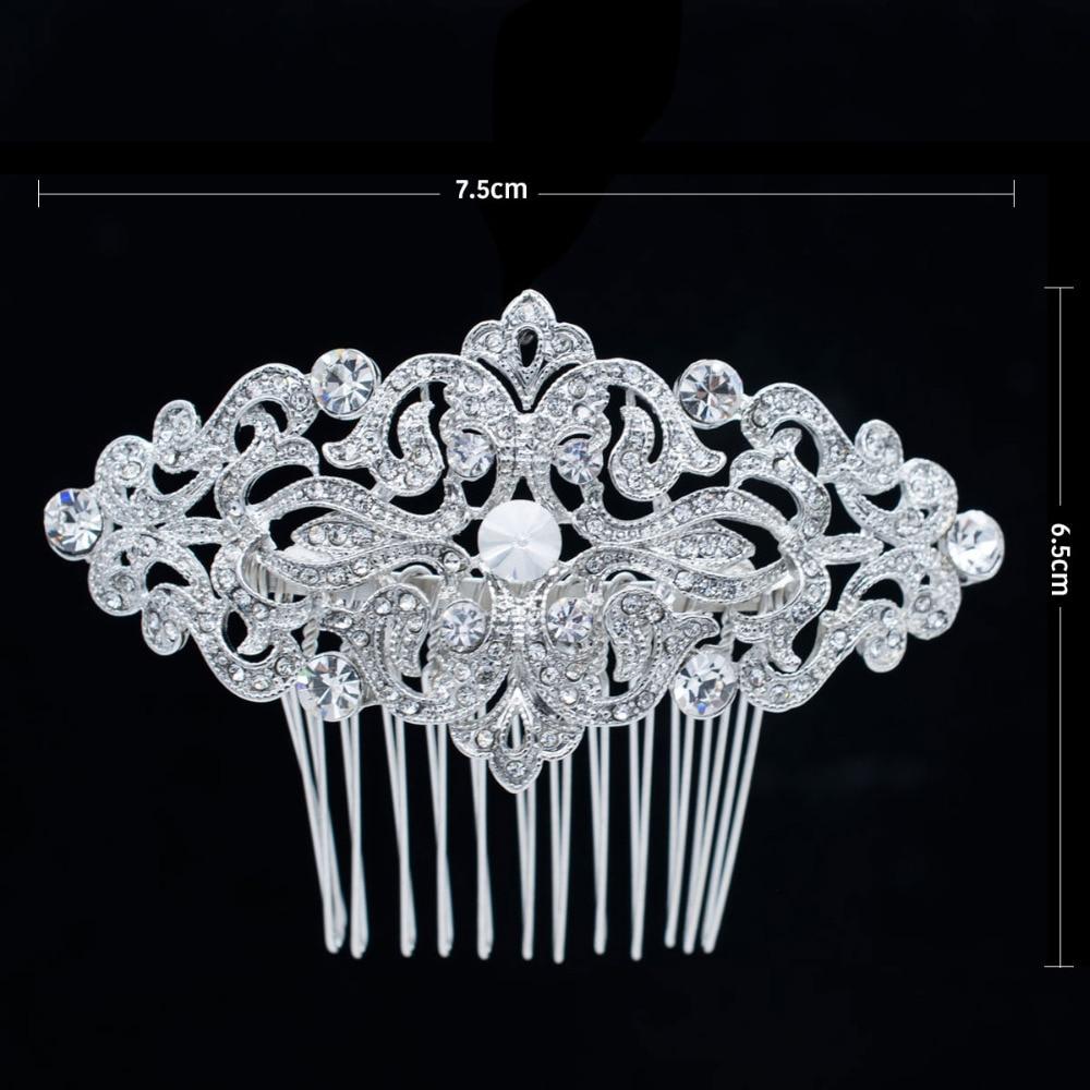 Popularni češalj za kosu s bočnim kristalima za mladenke za - Modni nakit - Foto 3