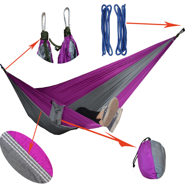 2 people Hammock 2017 Camping Survival garden hunting swing Leisure travel Double Person Portable Parachute outdoor furniture 2017 2 people hammock camping survival garden hunting travel double person portable parachute outdoor furniture sleeping bag