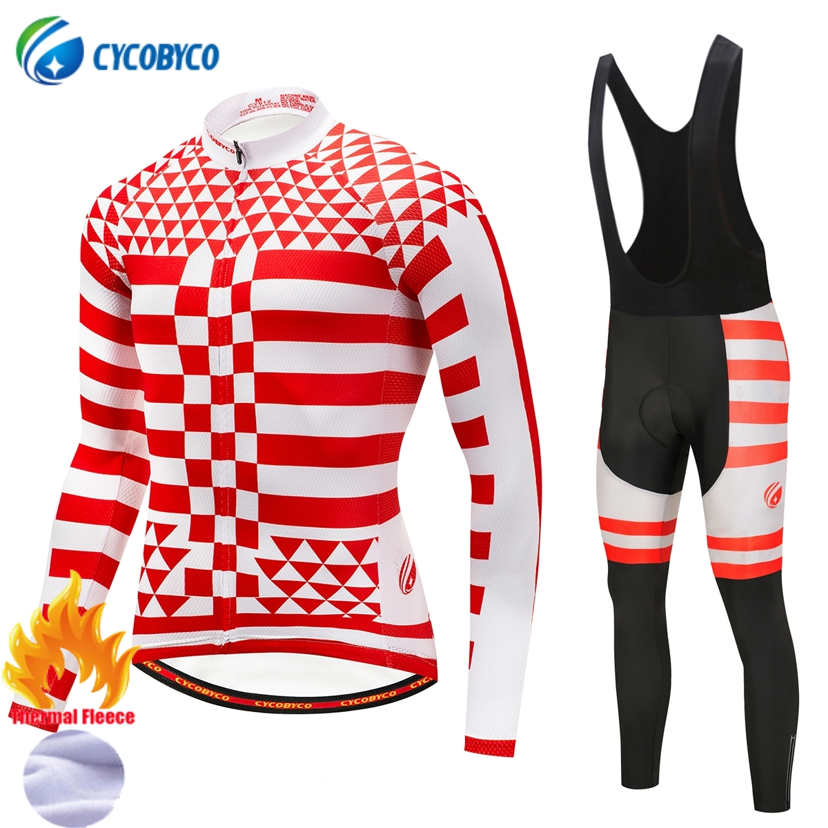 Cycobyco Winter Thermal Fleece Cycling Clothing Bike Clothes Wear Bicycle Jersey Set Long Sleeve Maillot Ropa Ciclismo InviernoCycobyco Winter Thermal Fleece Cycling Clothing Bike Clothes Wear Bicycle Jersey Set Long Sleeve Maillot Ropa Ciclismo Invierno