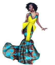 2018 Новое поступление Африканский хлопок Большие размеры женские платье M-6XL