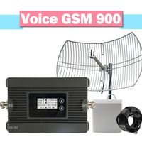 Power 80dB Gain GSM Grid Antenna 900mhz Cell Phone Signal repeater Work For Europe Aisa Cellular Amplifier 2G GSM Booster Kit