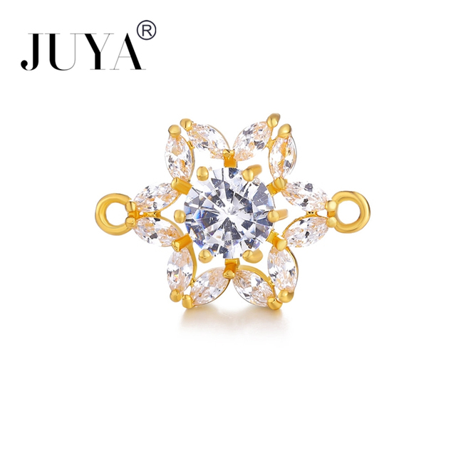 Jewellery Making Supplies 2018 NEW AAA Cubic Zirconia Crystal Flower  Connectors For Jewelry Making DIY Bracelet Necklace Earring 8cde8dc279a9