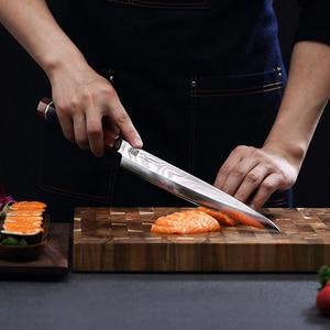 "Image 5 - 10.5"" Yanagiba Knife by Findking Prestige series 67 layers Japanese SKD11 damascus steel w/octagon handle sushi knife"