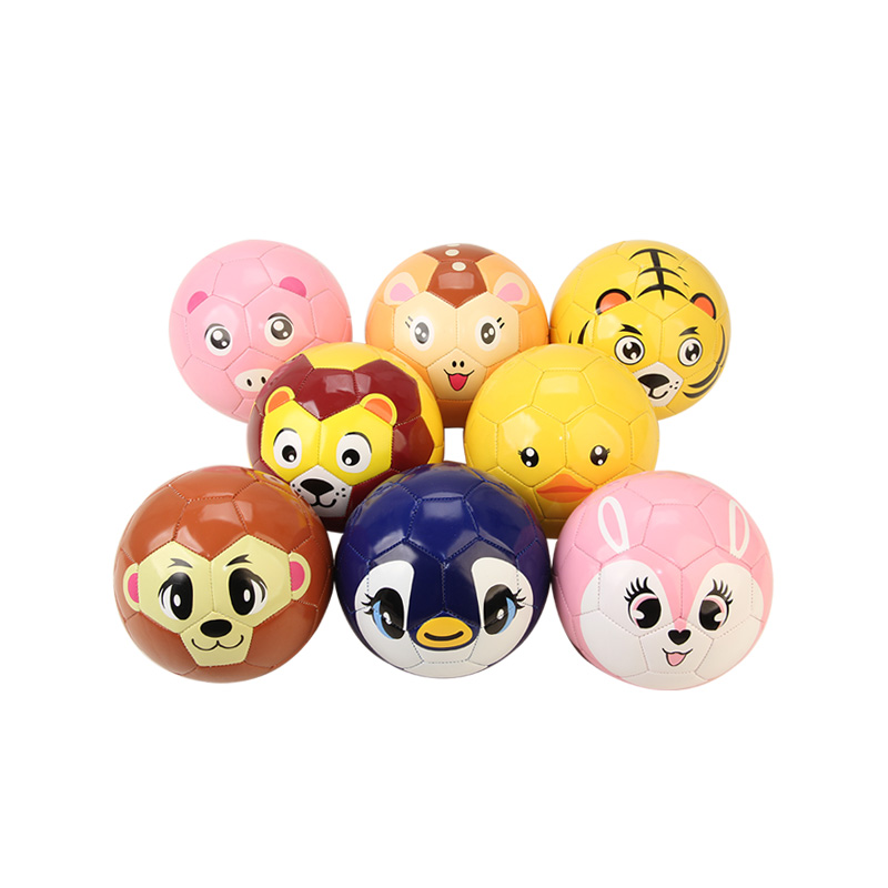 Children Kids Cartoon Animal Football ZOO Size 2 Tiger Soccer Ball Sports Toys