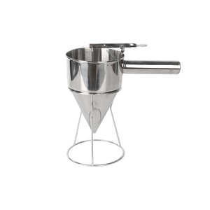 Image 5 - 1.75L Big Stainless Steel Funnel Octopus Balls Tool With Rack Adjusting Output Size Baking Dispenser Cooking Kitchen Hopper Tool