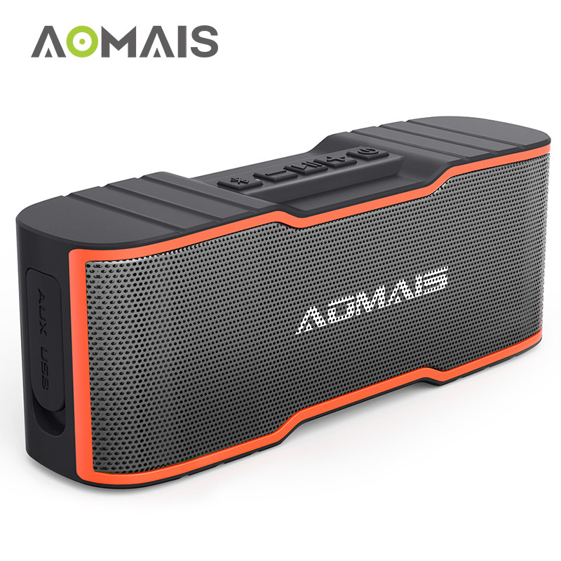 AOMAIS Sport II Mini Portable Bluetooth Speakers with 10W Superior Sound Built-in Mic Bluetooth 4.2 Wireless Waterproof Speaker i fun8 bluetooth speaker built in mic hands free call portable sound perfect speakers with tws wireless earbuds for smart phone