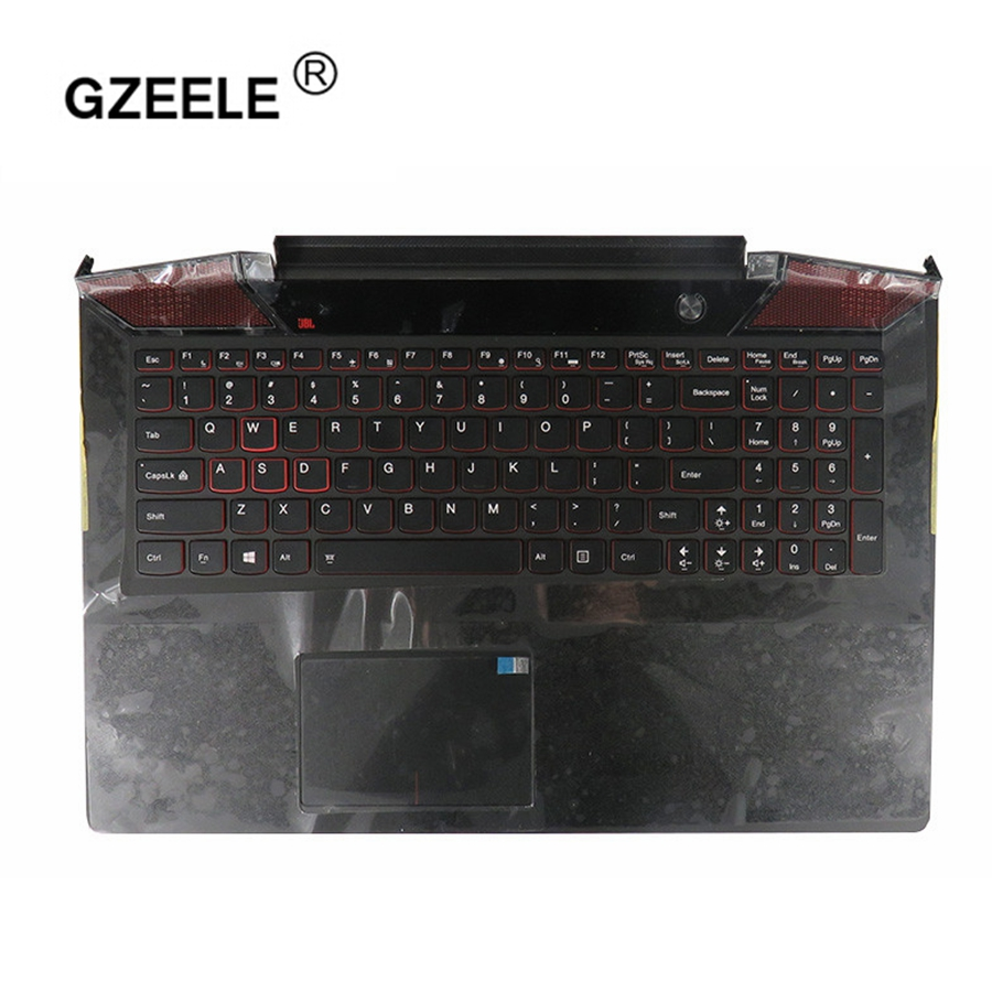 GZEELE New  Palmrest for Lenovo IdeaPad Y700 Y700-15 Y700-15ISK Y700-15ACZ Keyboard with Backlit Bezel Upper Cover TOUCHPAD US купить