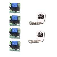 DC 12V RF Remote Control Switch Mini 1CH 10A Relay Receiver Transmitter Receiver Remote Control Plug