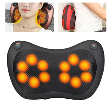 8/6/4 Head Shiatsu Massage Pillow Home Car Back Neck Massager Cushion Relief Pain Waist Body Electric Massager Apparatus