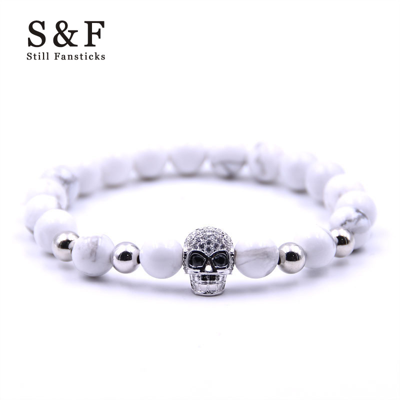 Skull Bracelet Men Jewelry Bead Bracelets For Women Pulseira Masculina Feminina Pulseras Femme Charm Bijoux Armband Bileklik