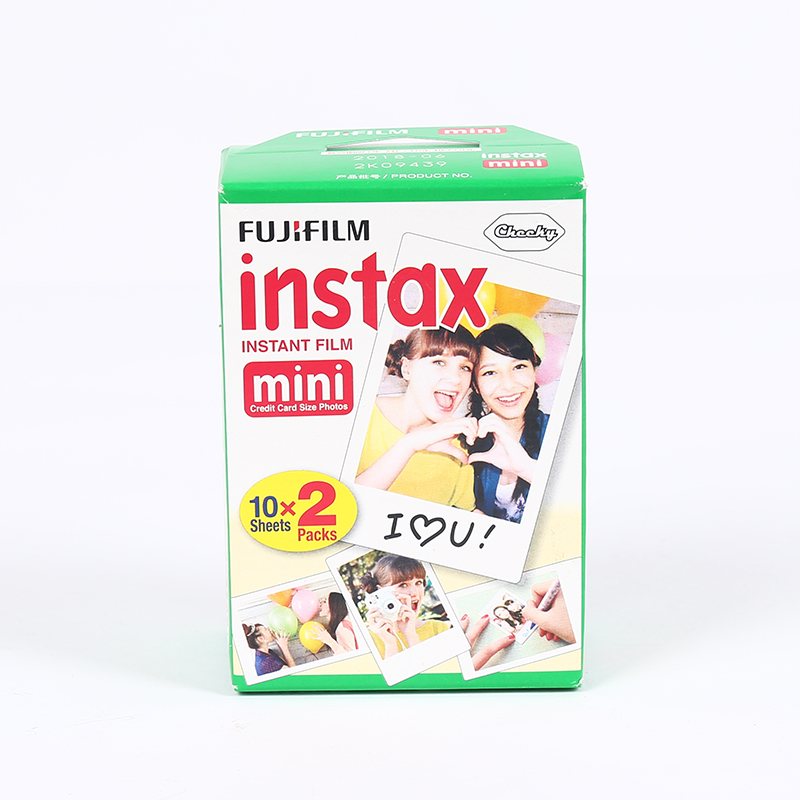 new Original 20pcs/box Fujifilm instax mini film 20 sheets white Edge 3 Inch wide film for Instant Camera mini 8 7s 25 50s 90