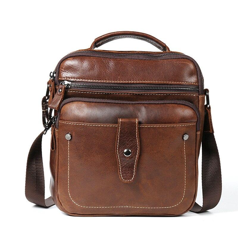 b55f0a05e Unisex Handmade Genuine Leather Men Ladies Crossbody Bags Retro Women Men  Messenger Shoulder Bag Join Agents Drop Shipping