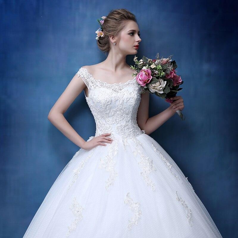 Bridal Lace Tulle A Line Bröllopsklänningar Ärmlös - Bröllopsklänningar - Foto 5