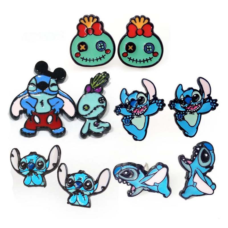 M1846 Hot Animal Stitch Earrings Cute Cartoon Earring Alloy Jewelry for Women jewelry accessories