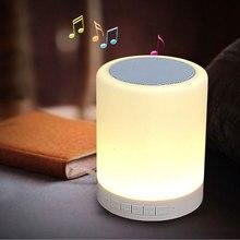Altavoz Bluetooth Mini Inteligente LLEVÓ LA Lámpara De Dormitorio App de Control Con Alarma reloj altavoz tf radio fm reproductor de música para el iphone 7 xiaomi(China (Mainland))