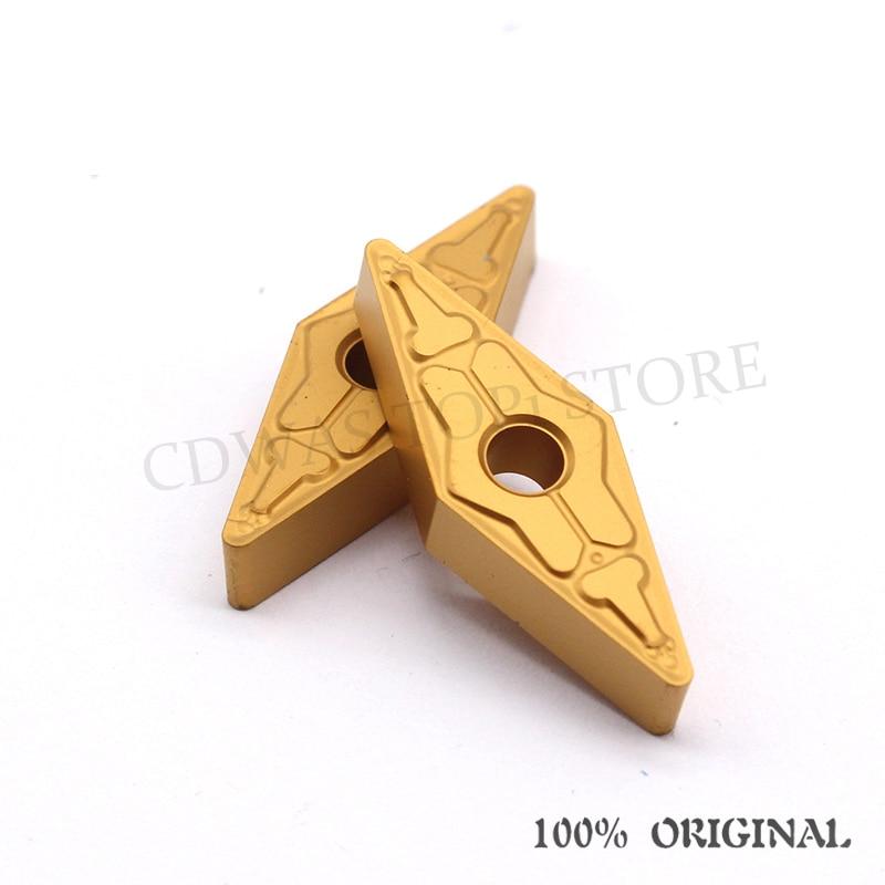 Купить с кэшбэком 10PCS Tungaloy VNMG160408 TM T9125 / T9025 High Quality carbide outer External turning tool CNC lathe tool free shipping