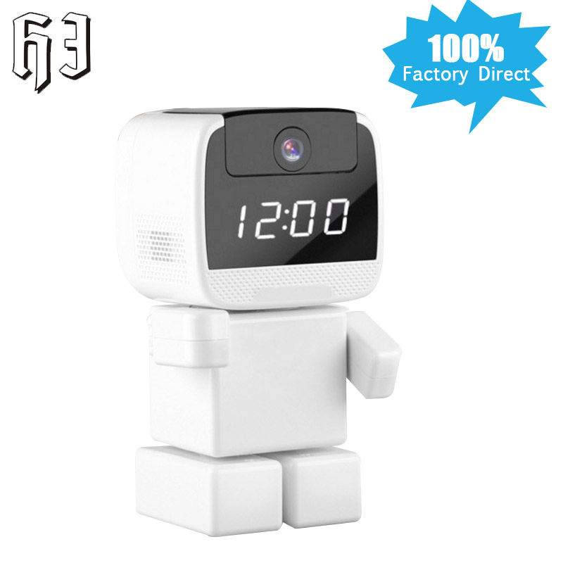 VStarcam 960P HD Wireless Robot IP Camera Wi-fi Network Night Vision Clock Mini Camera WIFI 1.3MP Baby Monitor Security CCTV P2P howell wireless security hd 960p wifi ip camera p2p pan tilt motion detection video baby monitor 2 way audio and ir night vision