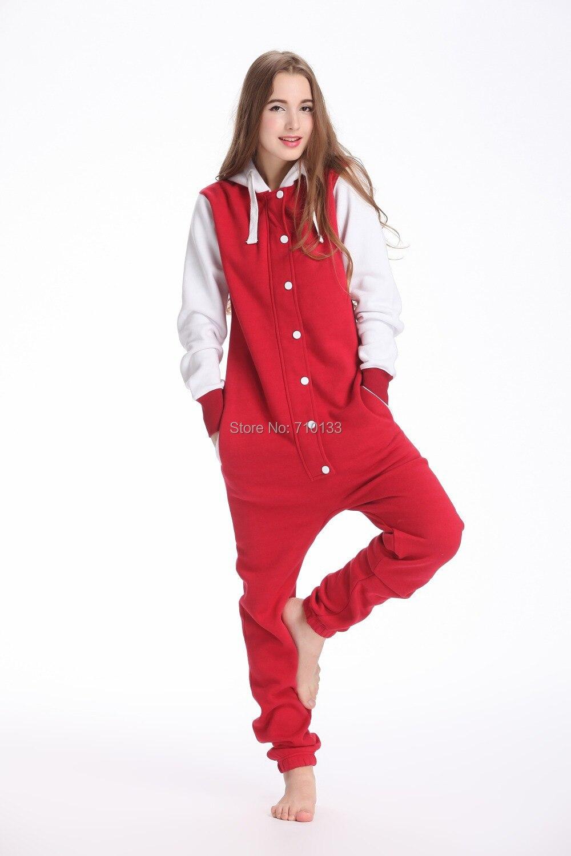 baseball jumpsuits for women unisex playsuit hoodie fleece Romper Onesie