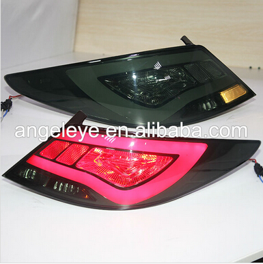 2011-2013year For Hyundai Accent Verna LED Tail Lamp 2011-2013year Smoke Black YZ Type ...