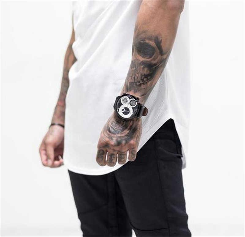 ブランドメンズ筋肉 tシャツボディービルフィットネス男性トップスコットンシングレットプラスビッグサイズ tシャツ綿メッシュ半袖 tシャツ