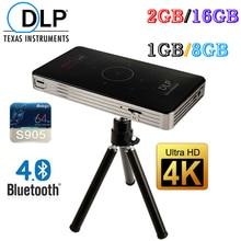 Newest  C6 Smart Portable DLP WiFi 1GB+8GB /2GB+16GB Amlogic S905 Quad Core Android 5.1 TV Box