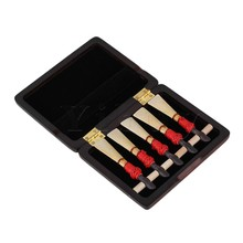 Yibuy Maroon Handmade Wooden Bassoon Reeds Case Protector Holds 5 pcs Reeds