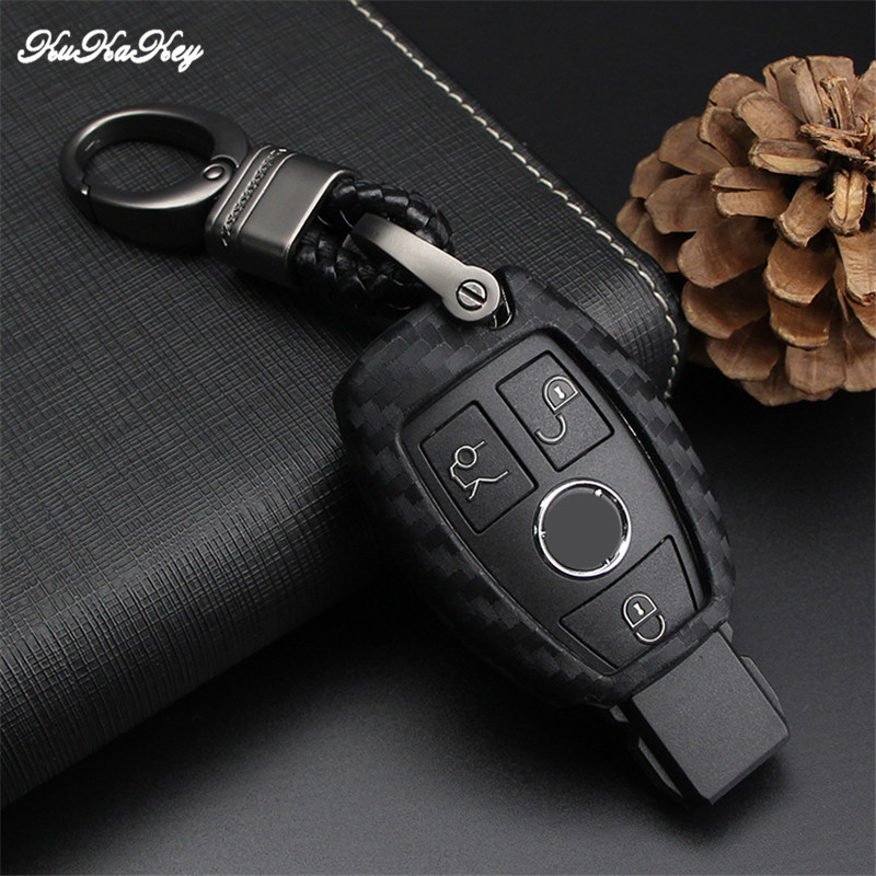 KUKAKEY Car Key Case Cover For Mercedes Benz W203 W210 W211 W124 W202 AMG C E S R CLS CLK CLA SLK Key Bag Shell Car Accessories in Key Case for Car from Automobiles Motorcycles