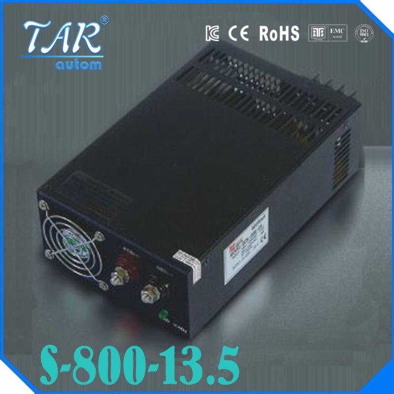Single Output Switching power supply 13.5V 59A 800W Transformer 110V 220V AC To DC 13.5 V SMPS For Electronics Led Strip Display switching power supply 500w 48v 10 4a single output smps power supply for led strip ac110v 220v transformer to dc 48v