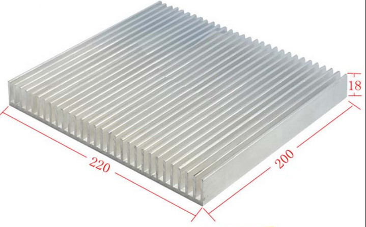 Fast Free Ship Dense tooth Power amplifier radiator 220*18*200mm radiator 6063 environmental protection aluminum heatsink free ship high quality high power radiator dense tooth aluminous profile 125 45 125mm power supply power amplifier heat sink