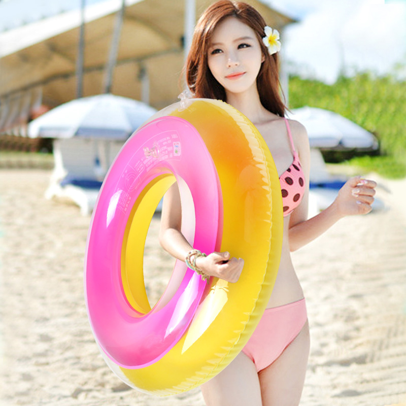 Summer colorful swimming ring inflatable float ring - Swimming pool accessories for adults ...