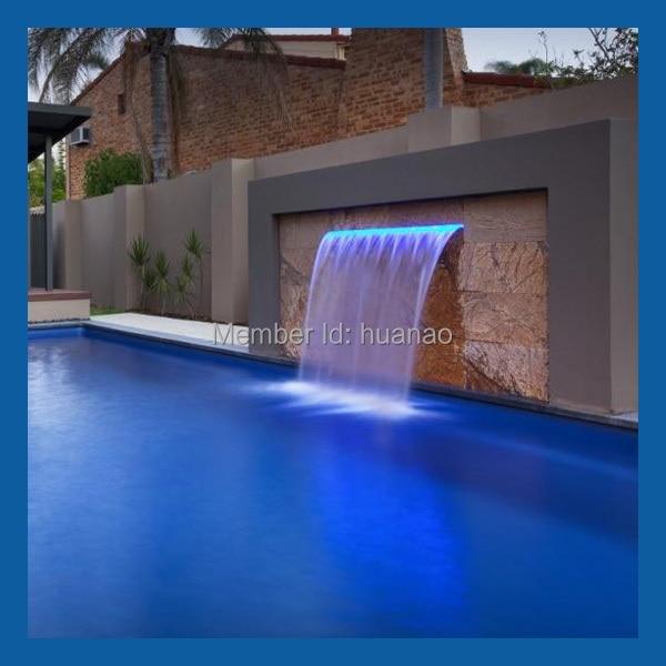 indoor artificial waterfall fountain, swimming pool waterfall ...