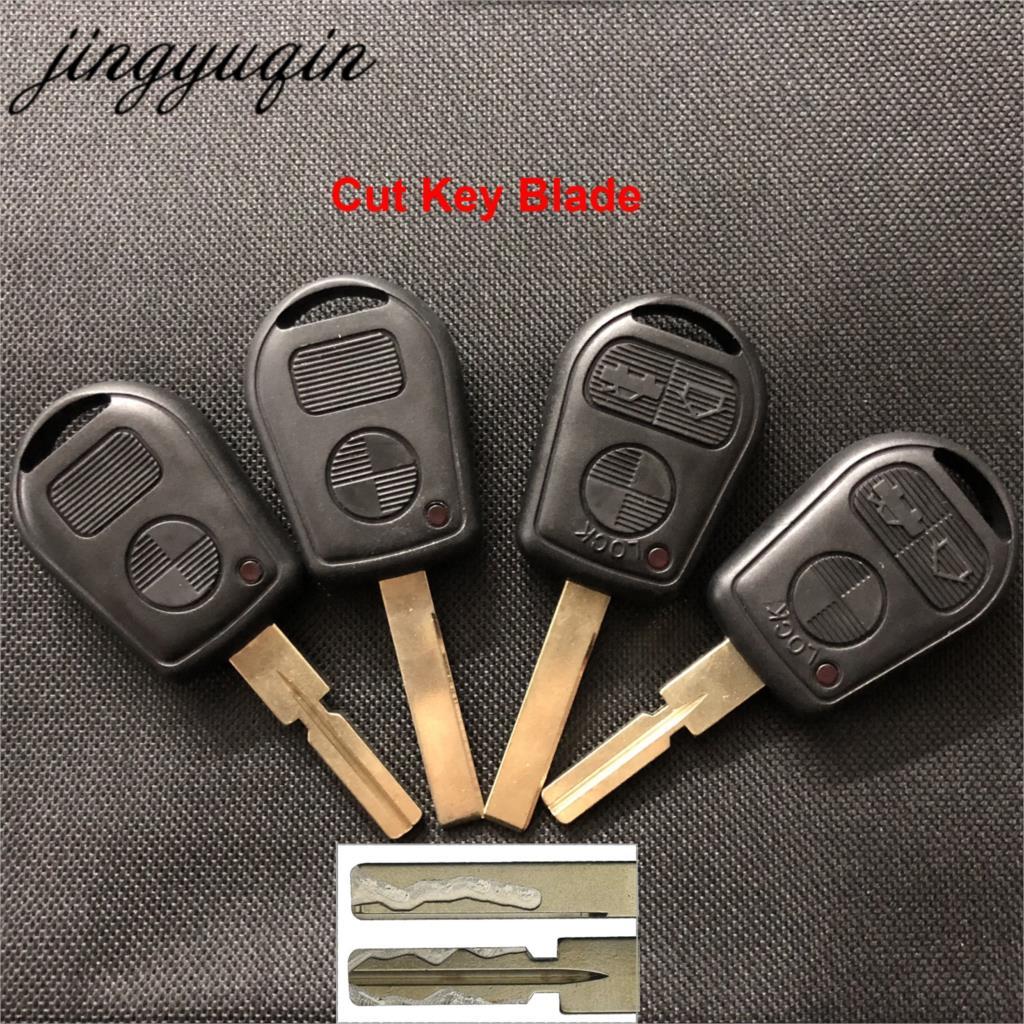Jingyuqin 3 кнопки с лезвием автомобиля дистанционного ключа чехол