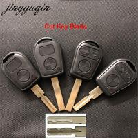Jingyuqin-hoja de corte de 3 botones para coche, carcasa de control remoto para BMW E31, E32, E34, E36, E38, E39, E46, Z3, reemplazo de código de llave de corte Fob