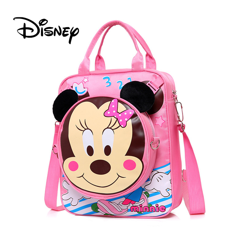Minnie Mouse Mini Backpack Mickey Ear Bow Girls School Bag Cartoon Shoulder Bags