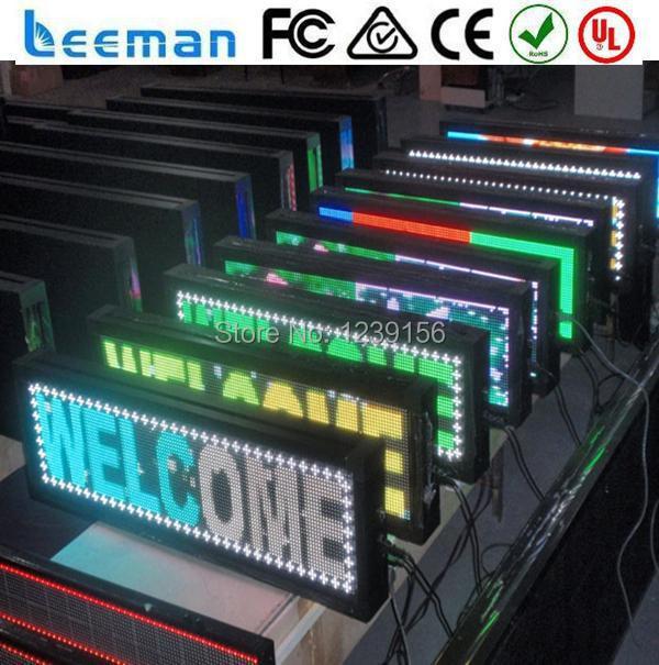Leeman программируемый из светодиодов перемещение сообщение вывеска, ph10mm бегущей строкой сообщение из светодиодов табло, P5 из светодиодов рекламный знак