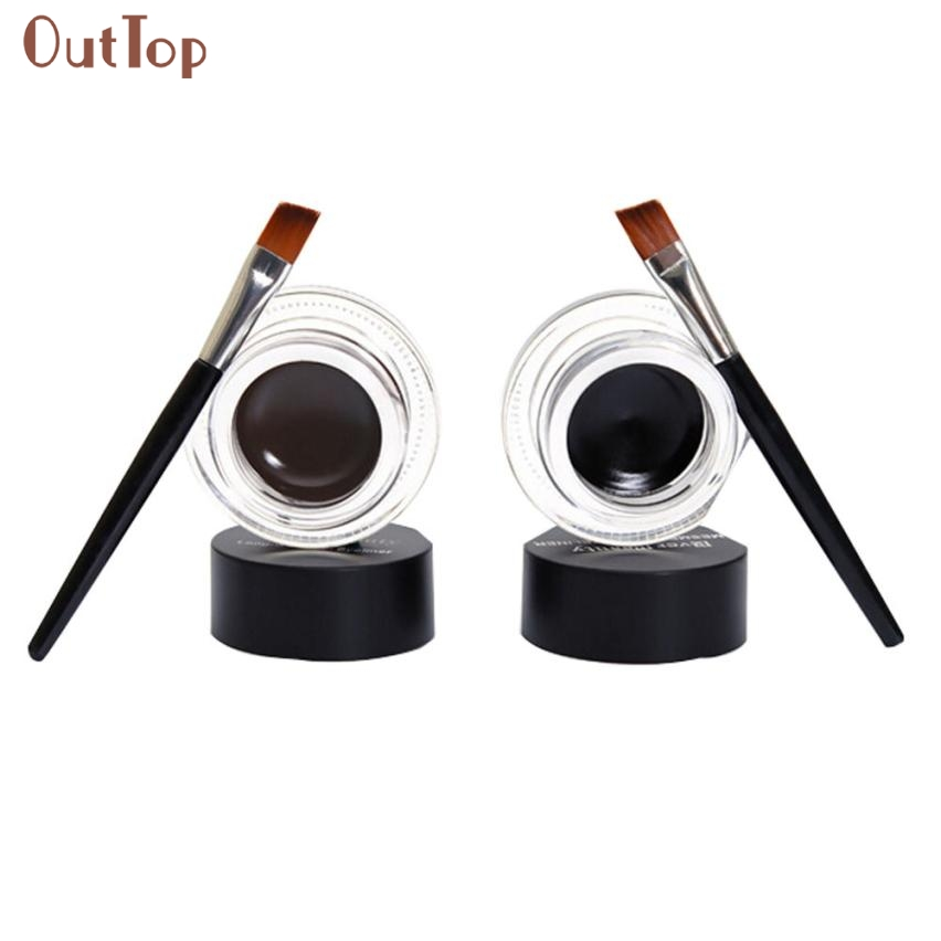 Beauty Girl 2Pcs Waterproof Long Lasting font b Eye b font Liner Gel Eyeliner Shadow font