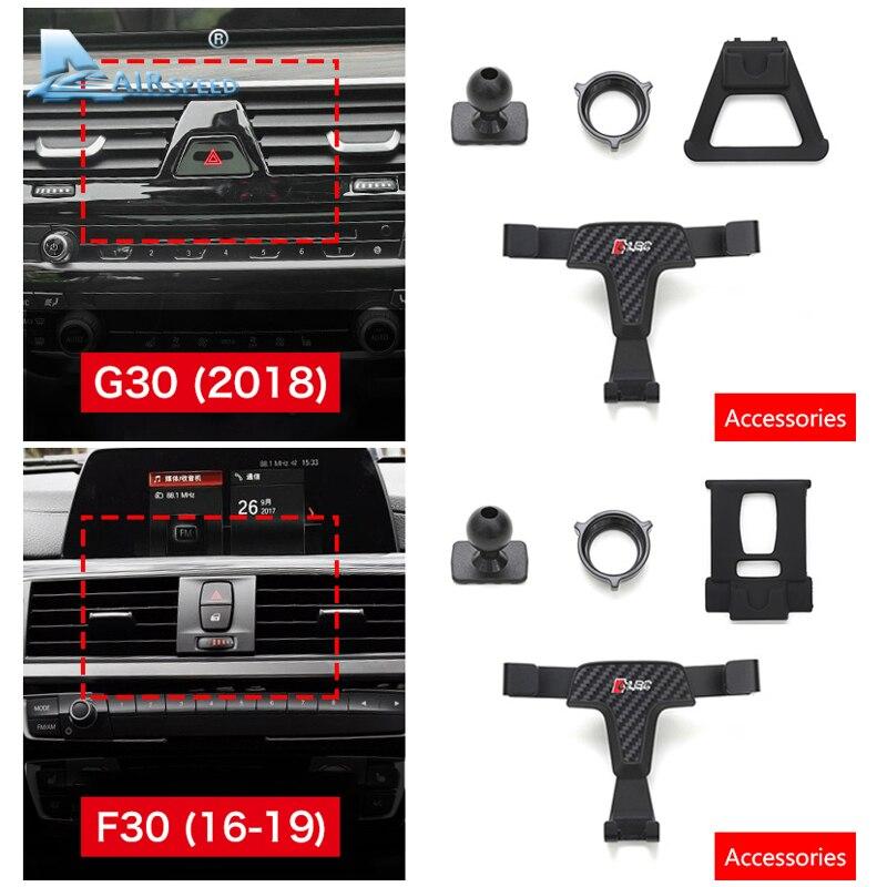 Image 4 - Airspeed Car Mobile Phone Holder Bracket Auto Special Mount for BMW F30 F32 F34 F10 F15 F16 F48 F39 G01 G30 G32 G02 AccessoriesUniversal Car Bracket   -
