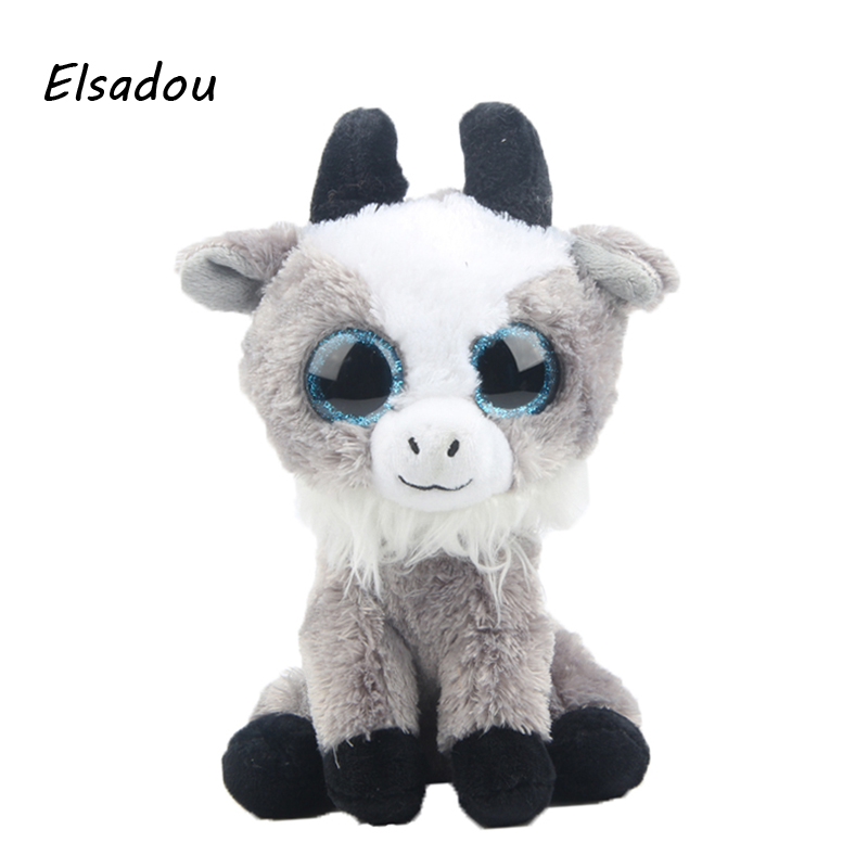 Elsadou Ty Beanie Boos Stuffed Plush Animals Goat font b Toy b font Doll