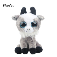 Elsadou Ty Beanie Boos Stuffed Plush Animals Goat font b Toy b font Doll