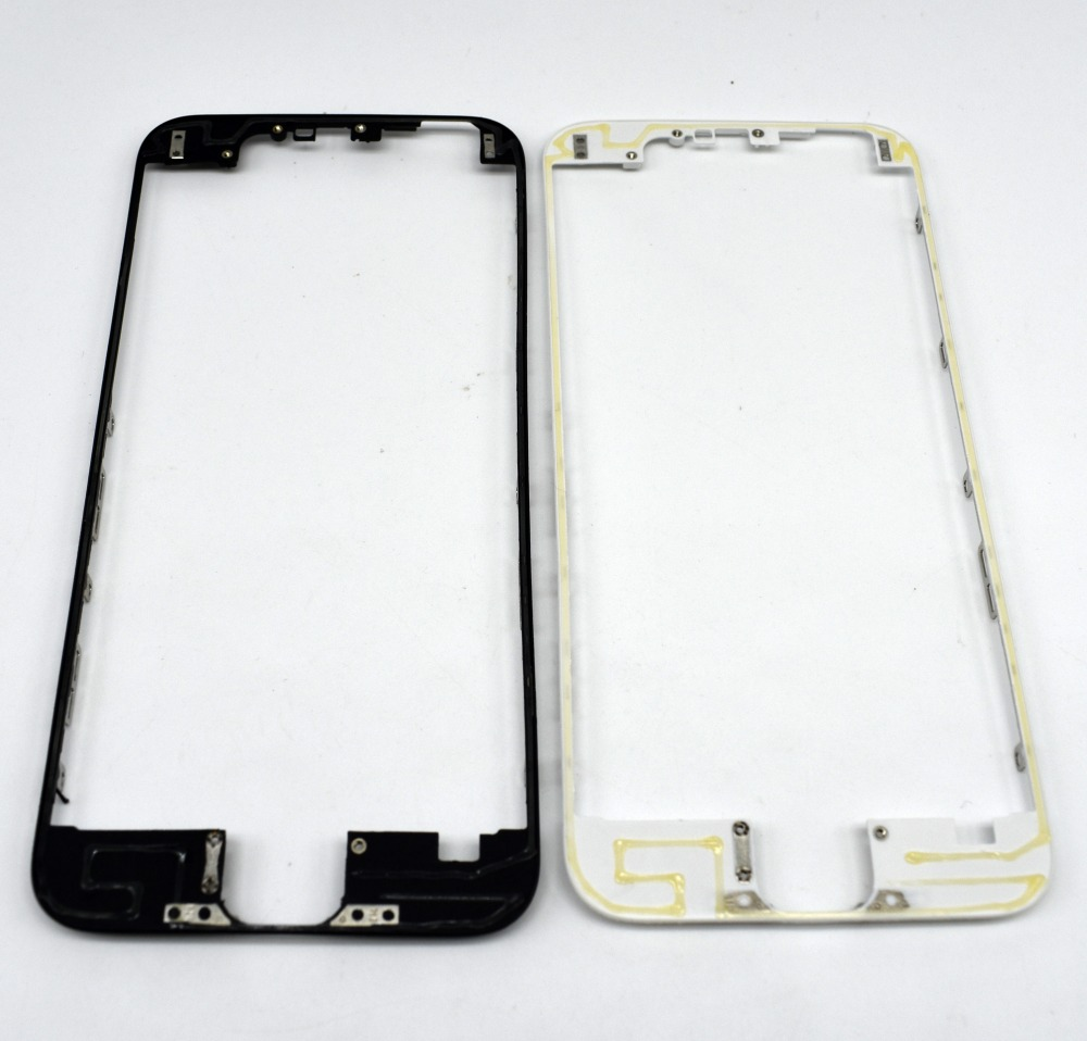 10pcs/Lot Front LCD Frame With Hot Melt Glue for iPhone 6 6G 4.7 inch Screen Display Bracket Housing Middle Bezel image