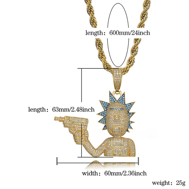 Rick and Morty Iced Out Necklace 5