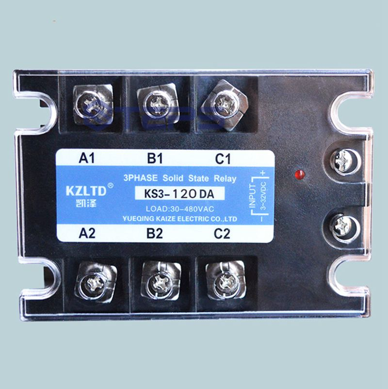 цена Three-phase solid state relay 120A DC to AC non-contact contactor relay 12V24V