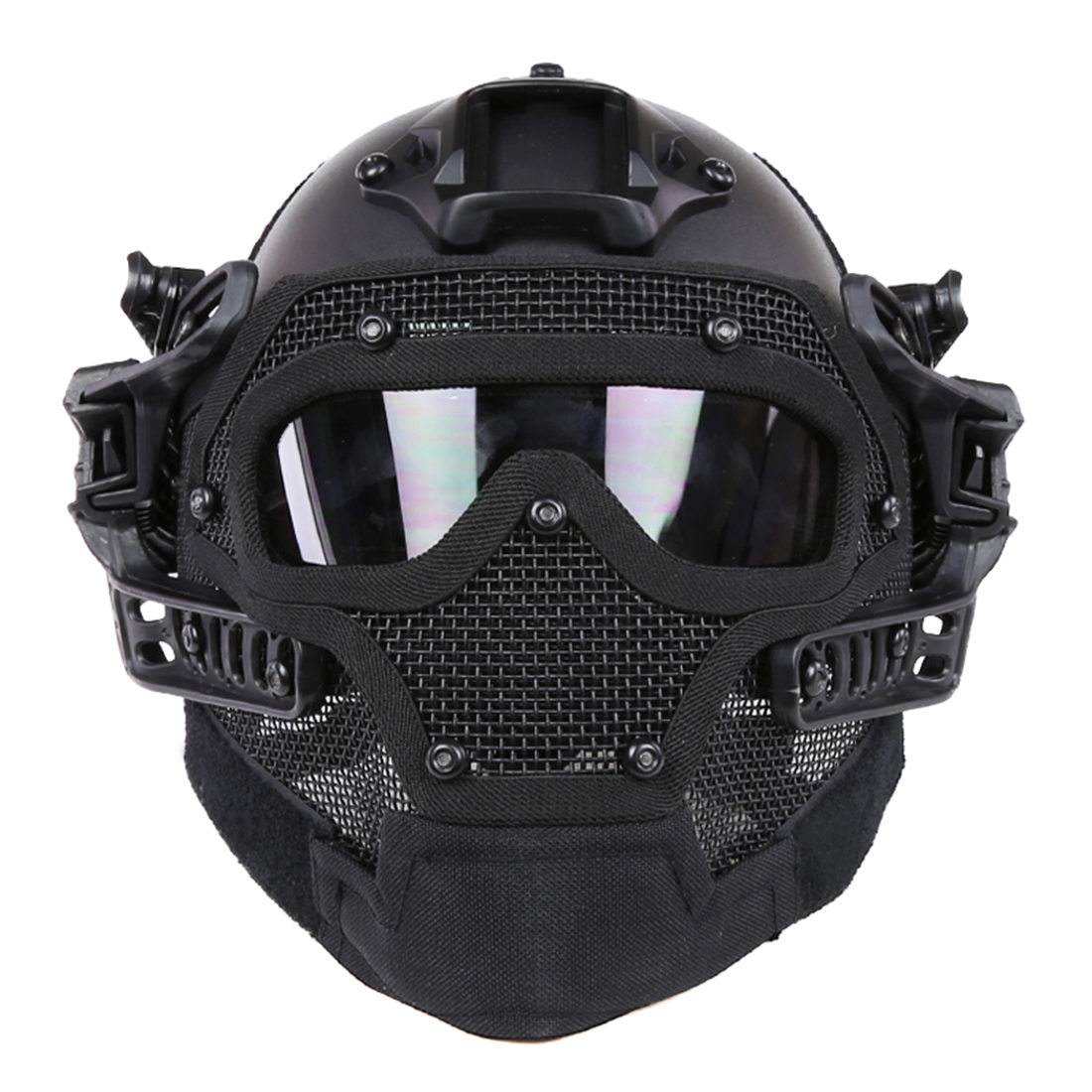Steel Wire Protective FAST Helmet Suit for Nerf/for Airsoft Outdoor Activity Tactical Toy Accessories - Black nfstrike steel wire protective fast helmet suit for airsoft military tactics helmet for nerf accessories games outdoor activity