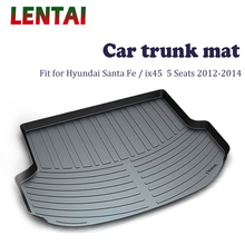 цена на EALEN 1PC Car rear trunk Cargo mat For Hyundai Santa Fe/ix45 5 Seats 2012 2013 2014 Boot Liner Tray Anti-slip mat Accessories
