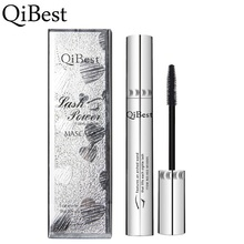 Qibest 3D Black Mascara Waterproof Lengthening Curling Eye Lashes Rimel Mascara Silicone Women Professional Makeup Mascara 5g