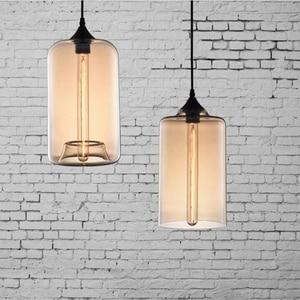 Image 4 - Nordic moderno colorato ciotola di vetro lampade a sospensione E27 loft lampade a sospensione per la cucina soggiorno camera da letto ristorante hall hotel