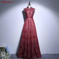 Красный Кружево Мамам молодожёнов платья для свадеб высокое Средства ухода за кожей шеи Свадебные вечерние крестная жениха длинные платья