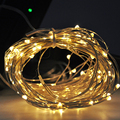 150LED 17Meter Wedddinf Fairy LED String Lights Cooper Wire Solar Powered Warm White Battery durability