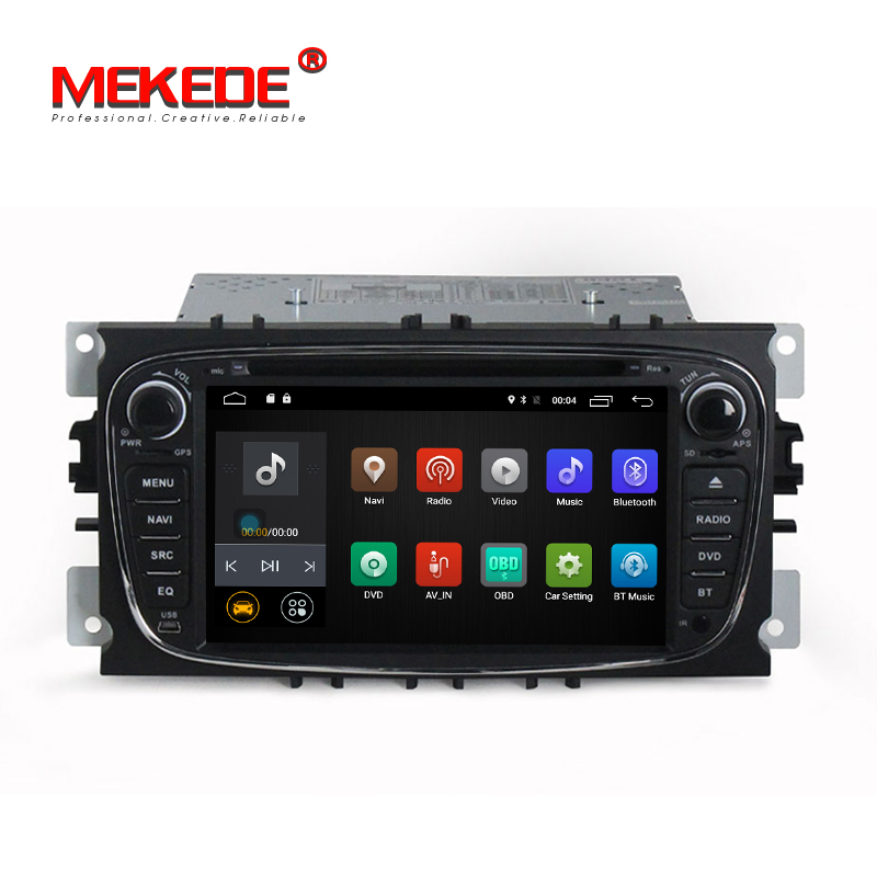 Android 7.1.1! 2G RAM 2Din 7 Inch Car DVD Player For FORD FOCUS2 GALAXY MONDEO CONNECT 2008-2011 With Wifi Radio GPS RDS BT
