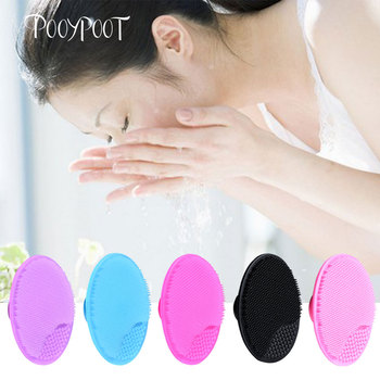 Pooypoot Silicone Cleanser Pads Face Wash Brush Exfoliating Cleansing Blackhead Remover Face Skin Care Tools 5 Colors Available 1